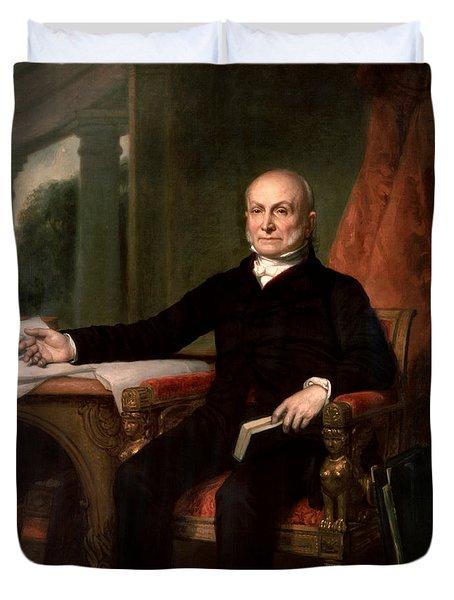 President John Quincy Adams  Duvet Cover by War Is Hell Store