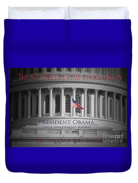 President Obama Inauguration Duvet Cover by Jost Houk