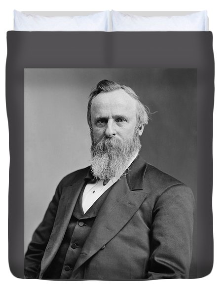 President Rutherford Hayes Duvet Cover by War Is Hell Store