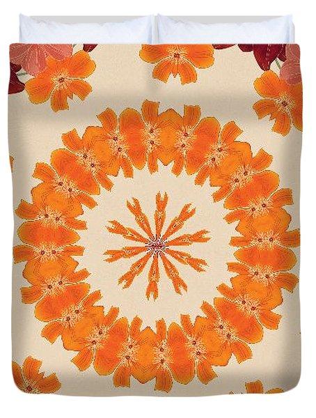 Pretty In Orange Duvet Cover by Lena Photo Art