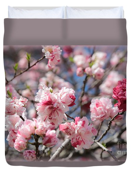 Pretty In Pink Duvet Cover by Carol Groenen