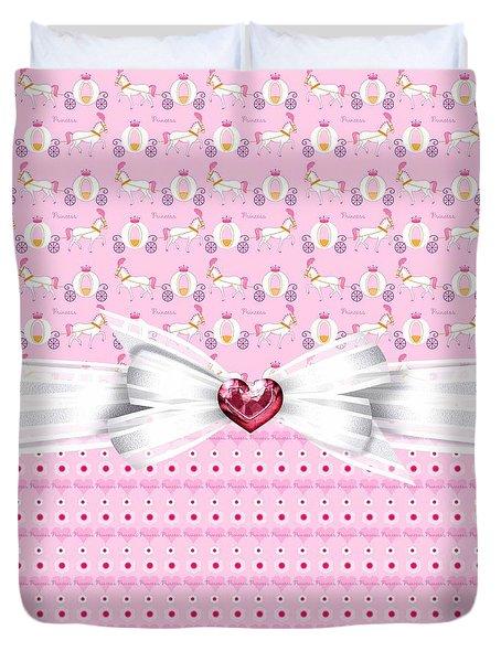 Pretty Pink Princess Duvet Cover by Debra  Miller