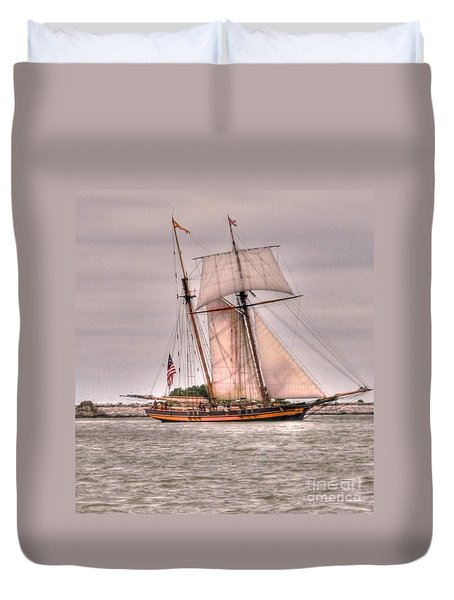 Pride Of Baltimore Duvet Cover by Kathleen Struckle