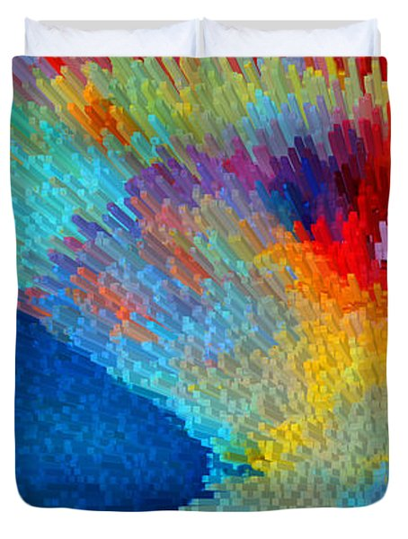 Primary Joy - Abstract Art By Sharon Cummings Duvet Cover by Sharon Cummings