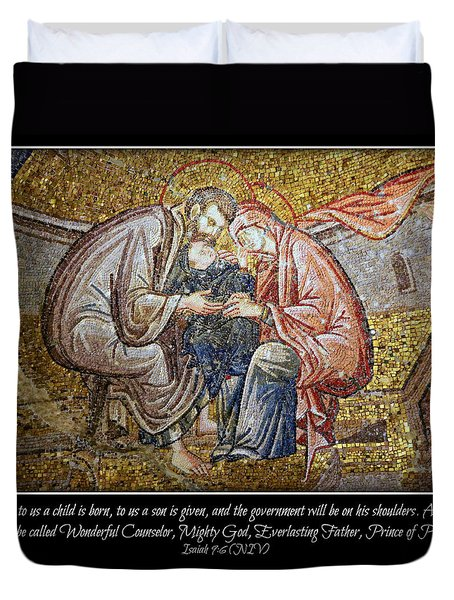Prince Of Peace Duvet Cover by Stephen Stookey
