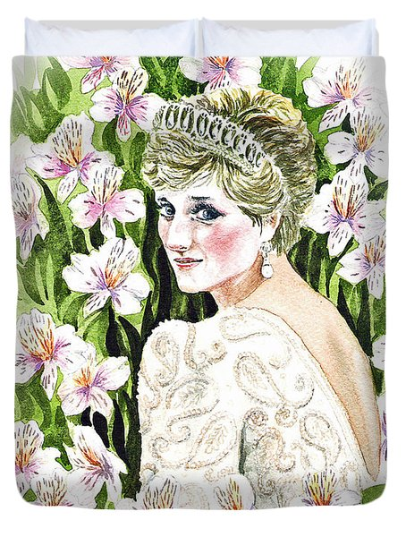 Princess Dianna Duvet Cover by Irina Sztukowski