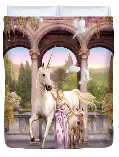 Princess Of The Unicorns Variant 1 Duvet Cover by Garry Walton