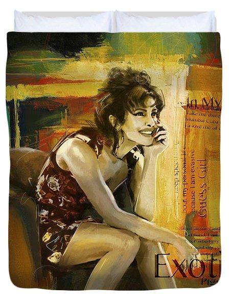 Priyanka Chopra Duvet Cover by Corporate Art Task Force