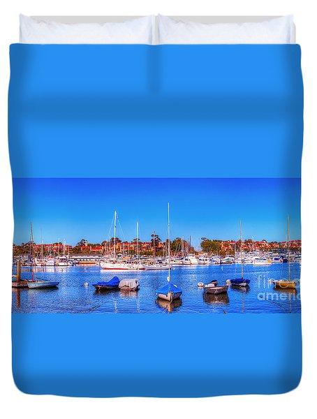 Promontory Point - Newport Beach Duvet Cover by Jim Carrell