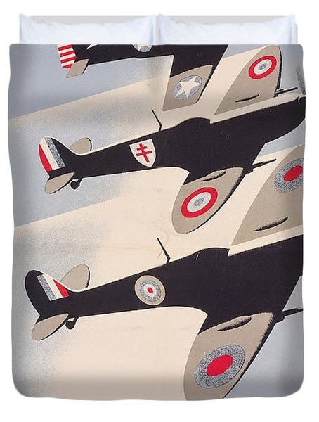 Propaganda Poster For Liberation From World War II Duvet Cover by Anonymous