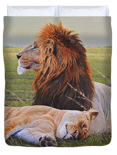 Protecting the Queen Duvet Cover by Aaron Blaise