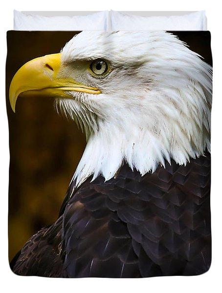 Proud Eagle Profile Duvet Cover by Athena Mckinzie