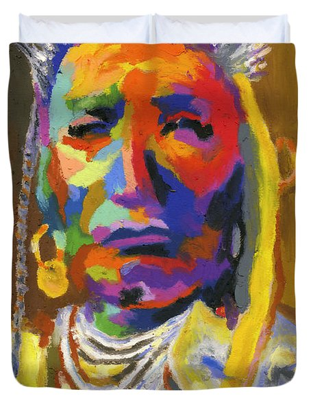 Proud Native American Duvet Cover by Stephen Anderson