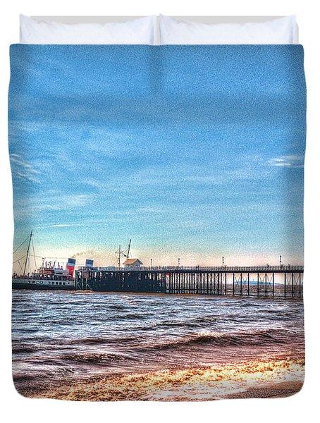Ps Waverley At Penarth Pier 2 Duvet Cover by Steve Purnell