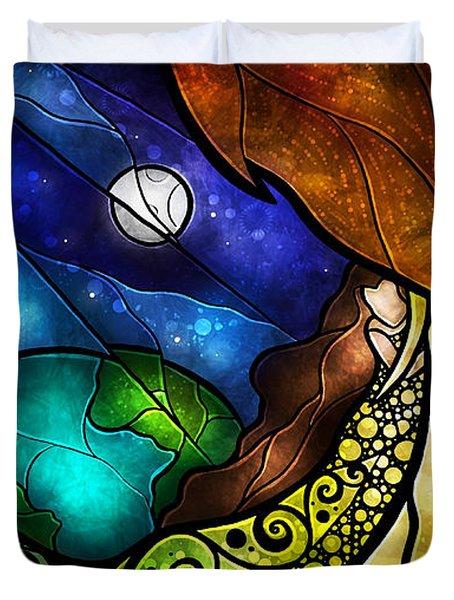 Psalm 91-4 Duvet Cover by Mandie Manzano