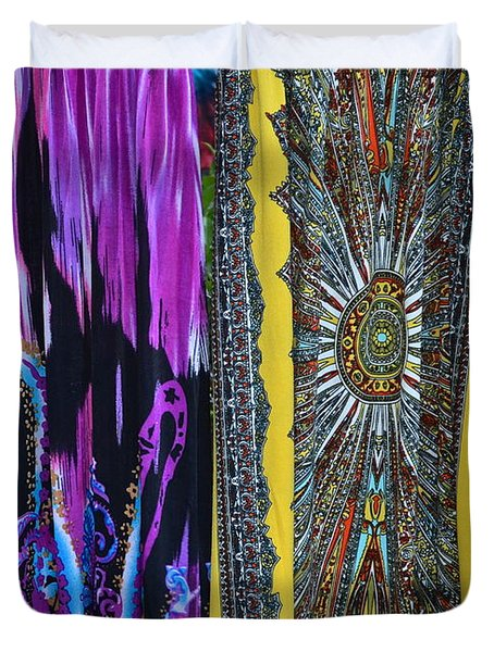 Psychedelic Dresses Duvet Cover by Frozen in Time Fine Art Photography