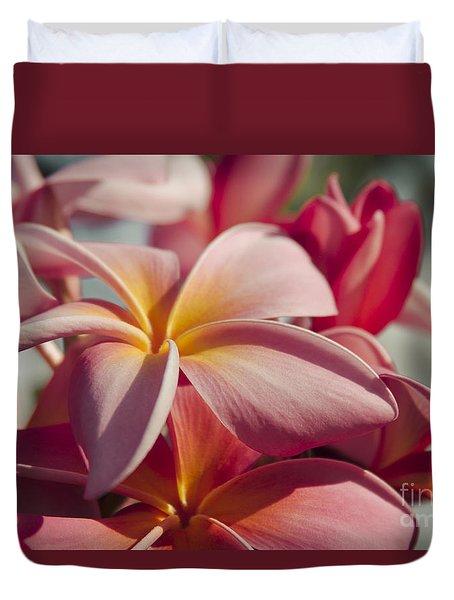 Pua Melia Ke Aloha Maui Hikina Duvet Cover by Sharon Mau