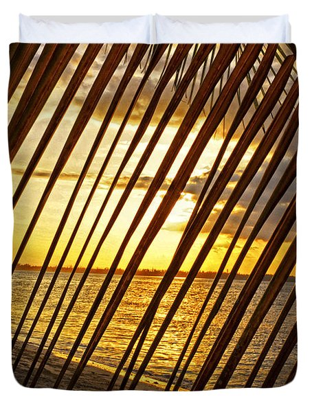 Puerto Rico Sunset 2 Duvet Cover by Stephen Anderson