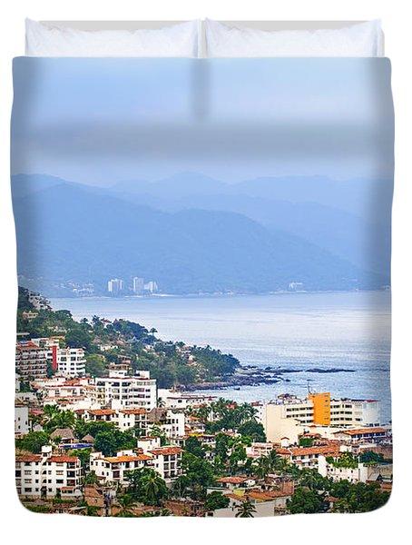 Puerto Vallarta On Mexican Coast Duvet Cover by Elena Elisseeva