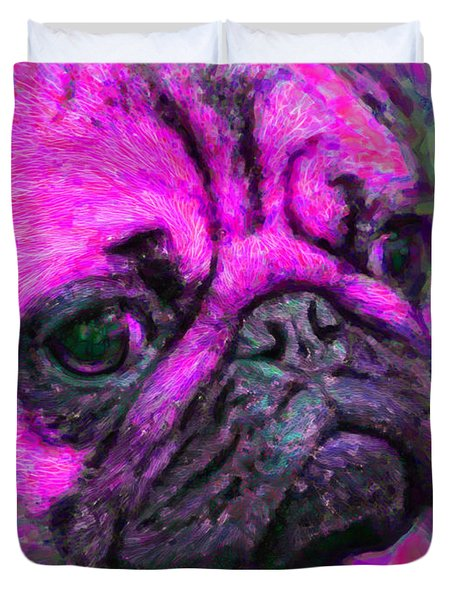 Pug 20130126v3 Duvet Cover by Wingsdomain Art and Photography