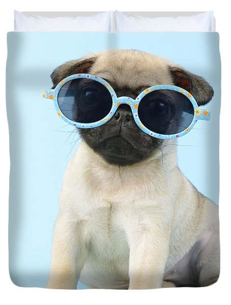 Pug Cool Duvet Cover by Greg Cuddiford