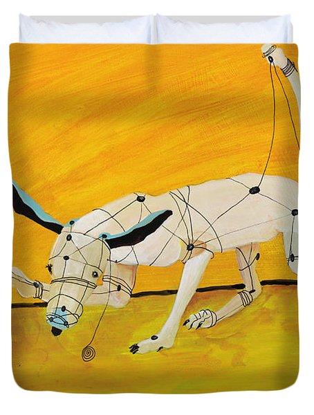 Pulling My Own Strings Duvet Cover by Pat Saunders-White
