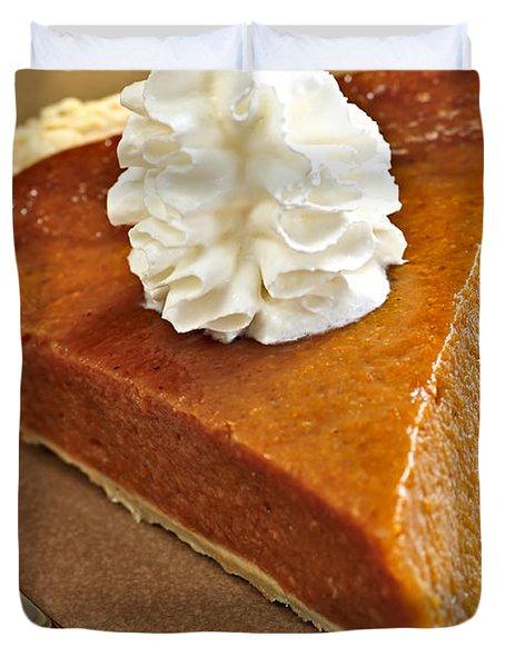 Pumpkin pie Duvet Cover by Elena Elisseeva