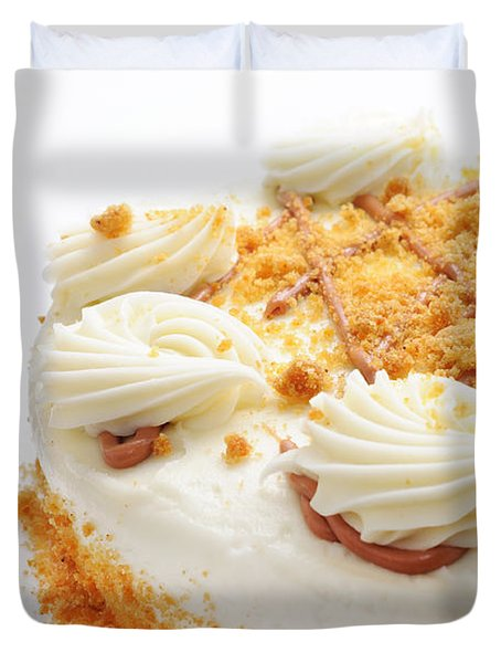 Pumpkin Spice Drizzle Cake 2 Duvet Cover by Andee Design