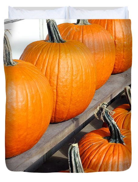 Pumpkins Duvet Cover by Valentino Visentini
