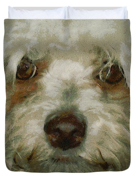 Puppy Eyes Duvet Cover by Ernie Echols