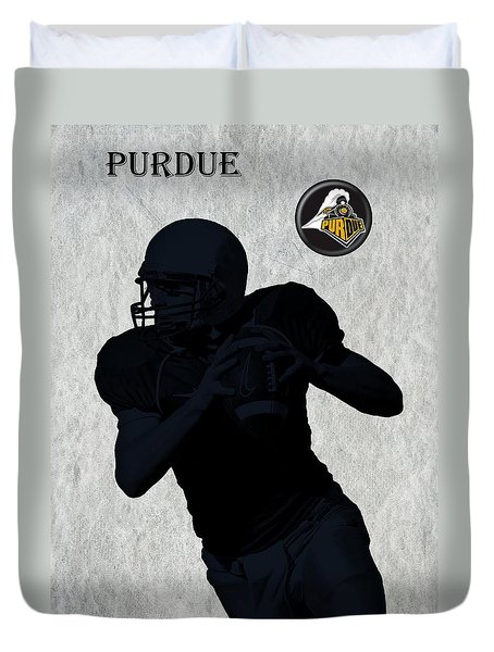Purdue Football Duvet Cover by David Dehner
