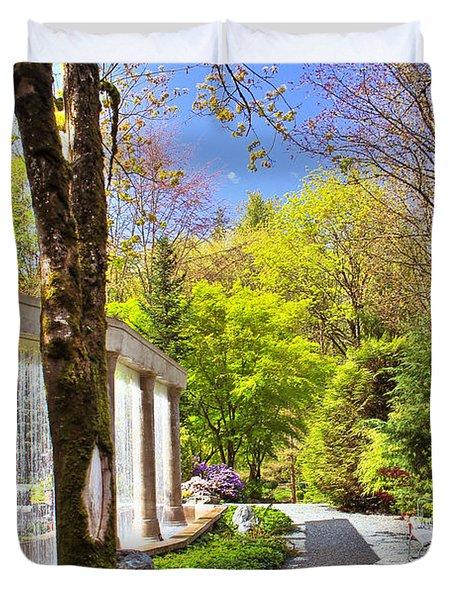Purifying Walk Duvet Cover by Eti Reid