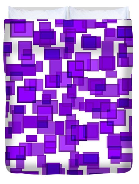 Purple Abstract Duvet Cover by Frank Tschakert
