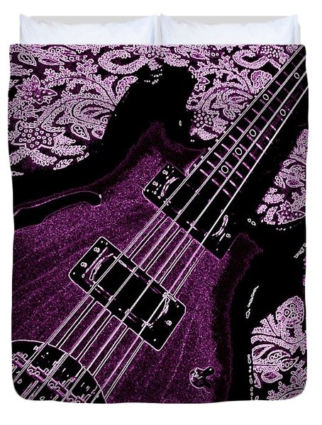 Purple Bass Duvet Cover by Chris Berry
