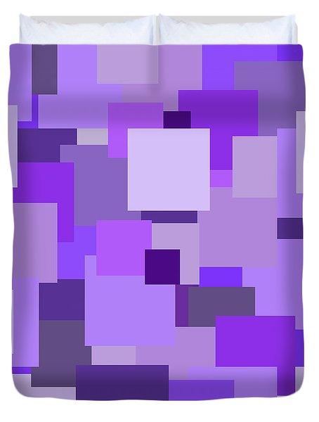Purple Extravaganza Duvet Cover by Mariola Bitner