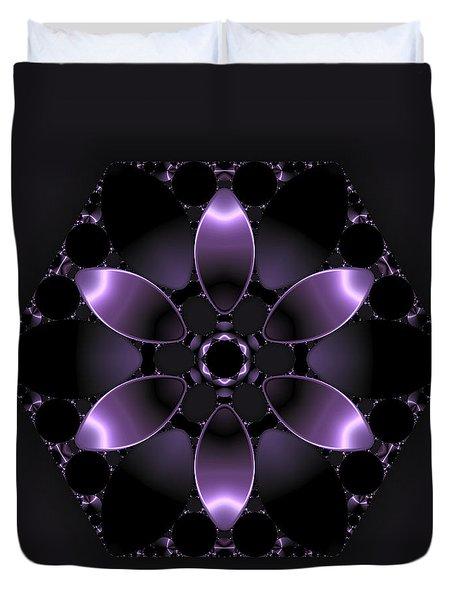 Purple Fantasy Flower Duvet Cover by Judi Suni Hall