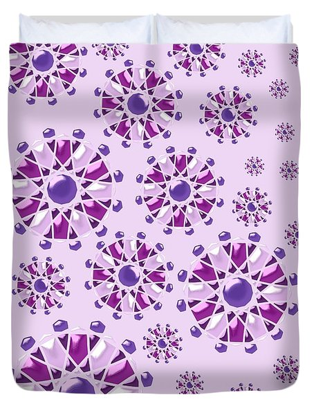 Purple Gems Duvet Cover by Anastasiya Malakhova