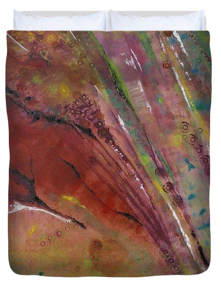 Purple Haze Duvet Cover by Denise Peat