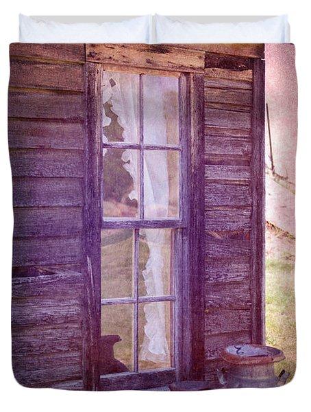 Purple Haze On The Prairie Duvet Cover by Judy Hall-Folde