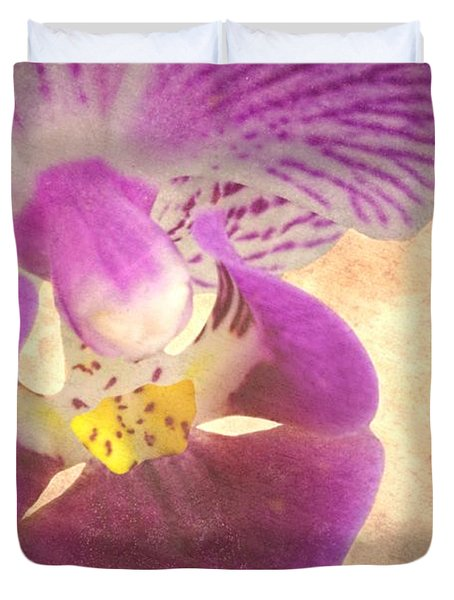 Purple Orchid 1 Duvet Cover by Rudy Umans