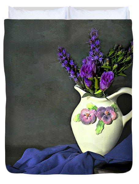 Purple Pardon Duvet Cover by Diana Angstadt