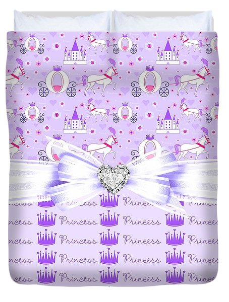 Purple Passion Princess Duvet Cover by Debra  Miller