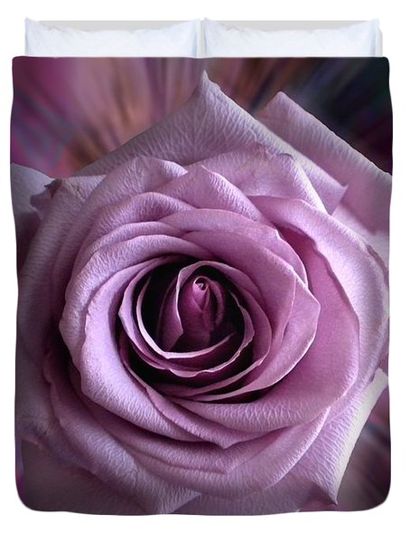 Purple Rose Duvet Cover by Thomas Woolworth