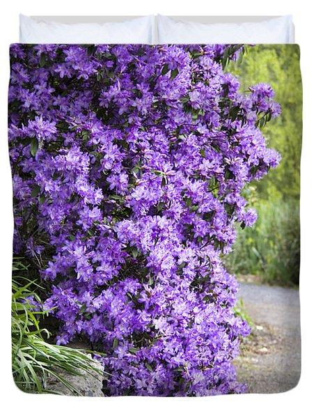 Purple Spring Duvet Cover by Priya Ghose