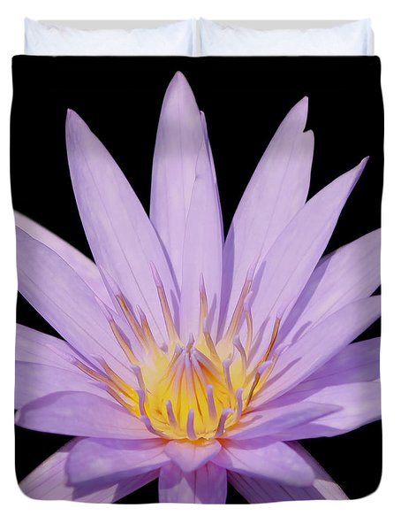 Purple Water Lily Duvet Cover by Kim Hojnacki