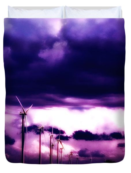 Purple Winds Duvet Cover by Todd and candice Dailey