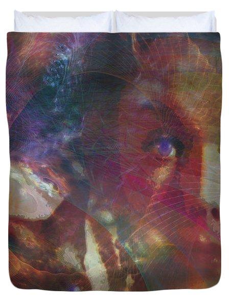 Pyewacket And Gillian Duvet Cover by John Robert Beck