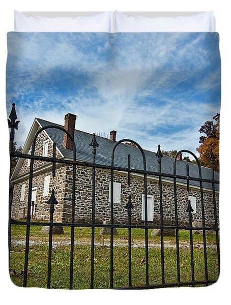 Quaker Meeting House - Warrington Duvet Cover by Mark Jordan