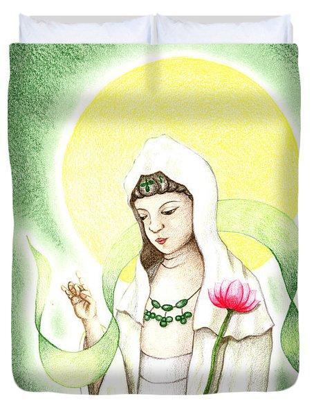 Quan Yin Duvet Cover by Keiko Katsuta