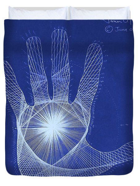 Quantum Hand Through My Eyes Duvet Cover by Jason Padgett